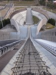 Looking down the ski jump.